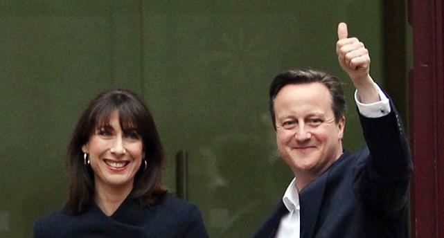 David Cameron och hans fru Samantha