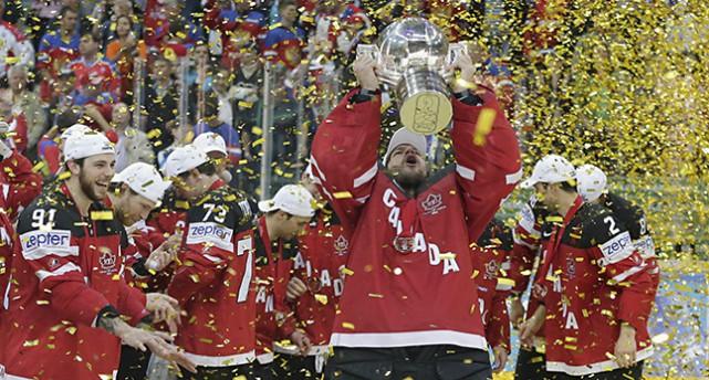Kanada jublar över VM-guldet i ishockey.