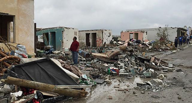 förstörda hus Mexiko
