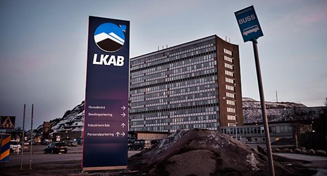 Företaget LKAB i Kiruna.