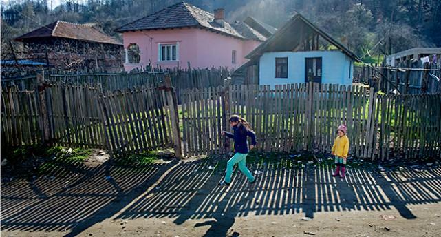 En by i Rumänien