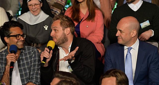 David Batra, Robin Paulsson och Fredrik Reinfeldt