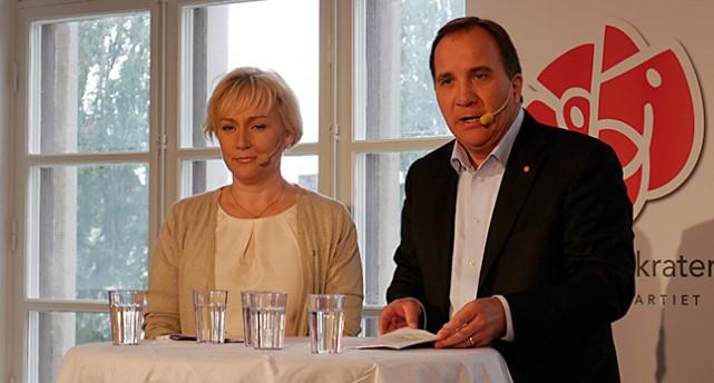 Helene Hellmark Knutsson och Stefan Löfven