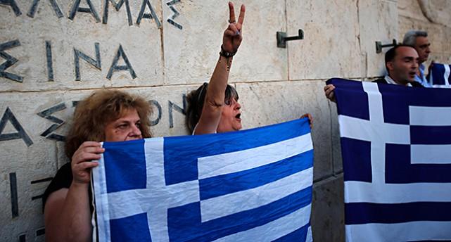 Protester i Grekland