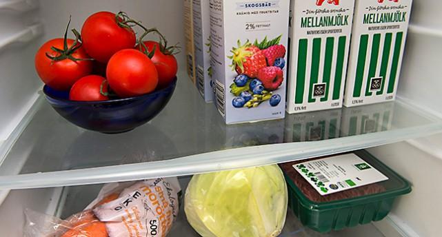 mat i ett kylskåp