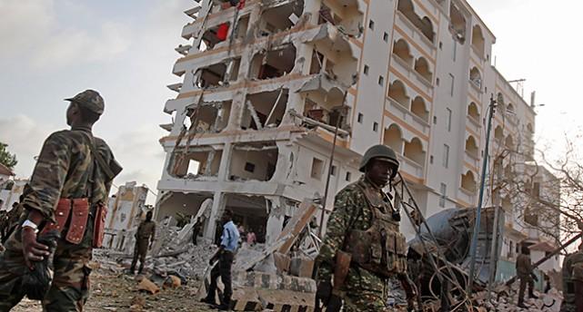 En bomb sprängdes vid hotellet i Somalia