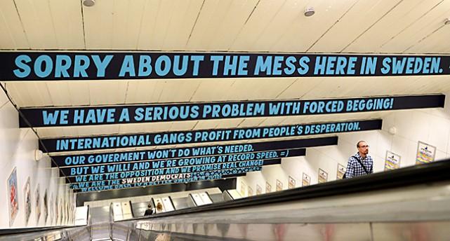 Reklam i tunnelbanan