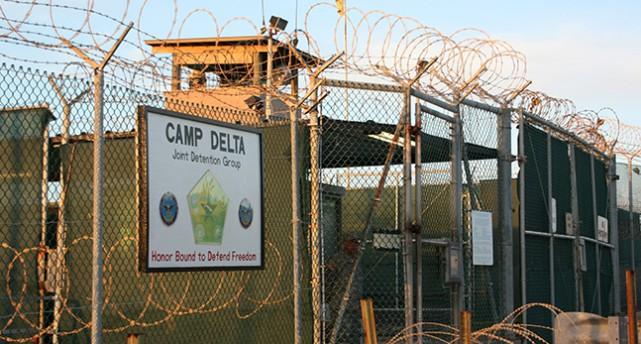 Inggånget till fånglägret Guantanamo