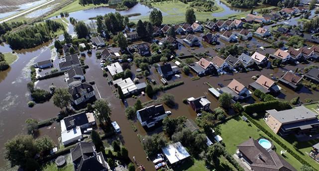 Översvämning i Hallsberg.