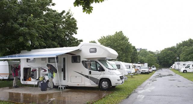 Bredängs camping i Stockholm.