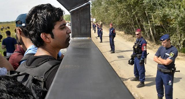 Stänglset vid Ungerns gräns mot Serbien.