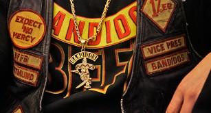 Symboler för gänget Bandidos.