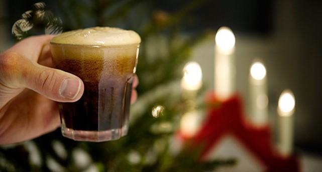 Ett glas julmust.