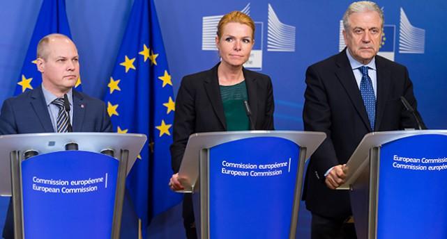 Morgan Johansson på möte i EU.