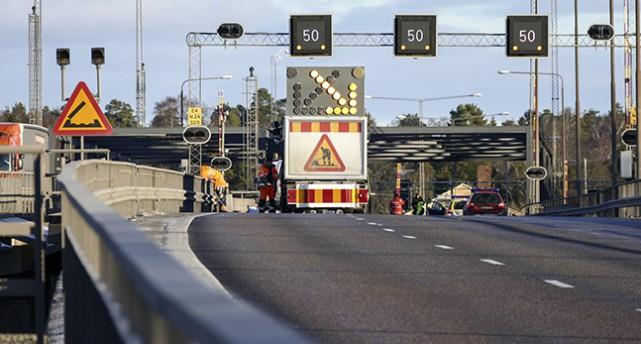 Motorvägsbron i Södertälje.