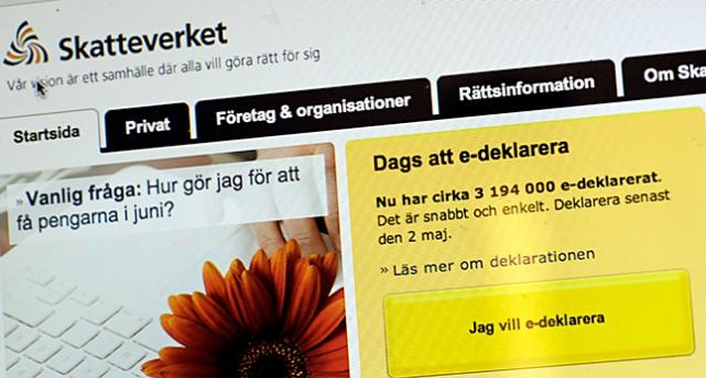Skatteverkets sajt