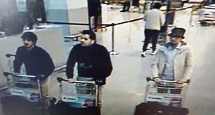 Poliserna tror att de här tre männen sprängde bomberna på flygplatsen i Bryssel. Foto: Belgian Federal Police/ AP/TT