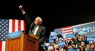 Bernie Sanders vann Demokraternas provval. Foto: Brennan Linsle/TT