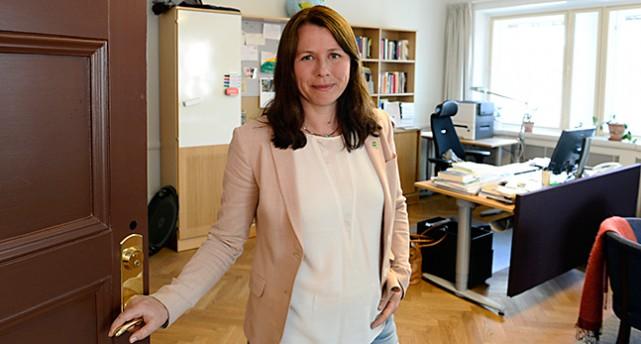 Miljöpartiets politiker Åsa Romson