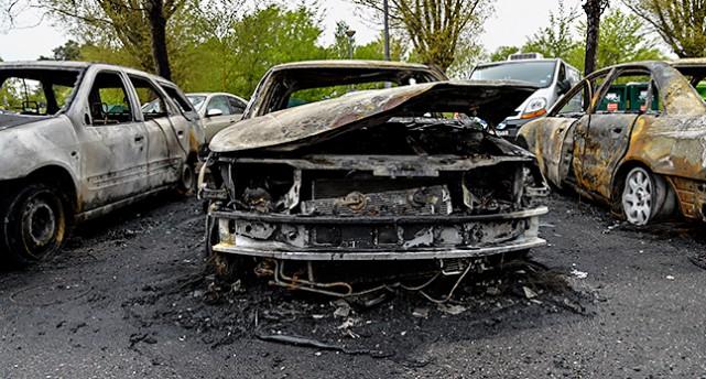 En bränd bil