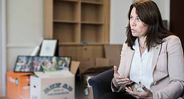Miljöpartisten Åsa Romson