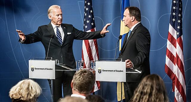Joe Biden och Sveriges statsminister Stefan Löfven.