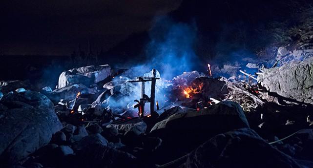 Konstverket Nimis brinner