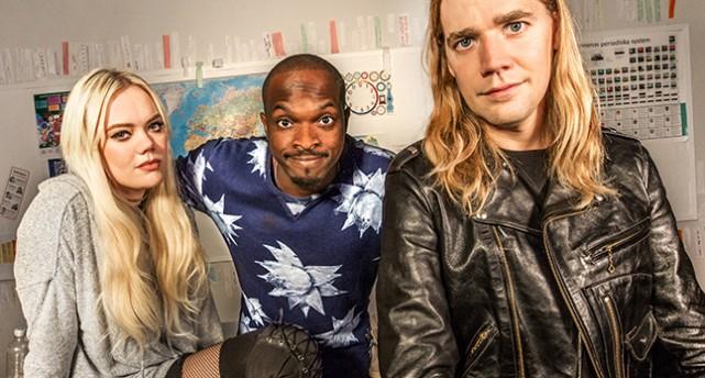De tre programledarna