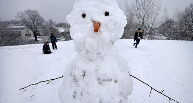 En snögubbe i Tyskland.