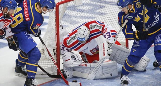 Bild från Tre Kronors match mot Tjeckien den 18 december.