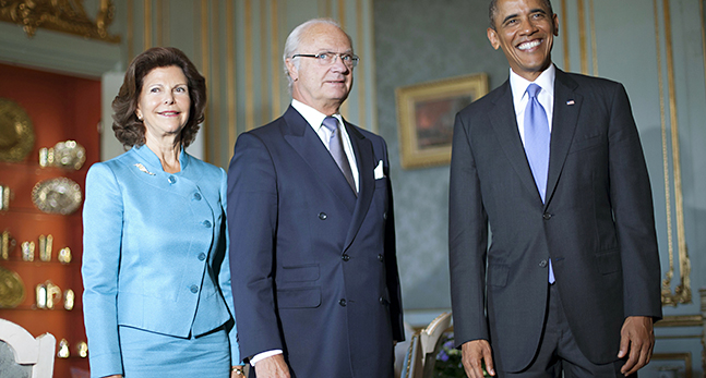Barack Obama, Carl Gustaf, Queen Silvia