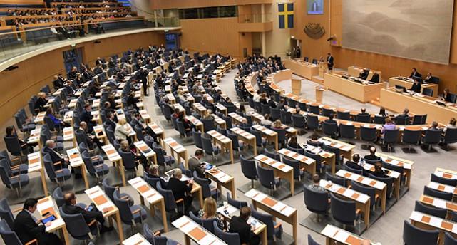 Bild från riksdagen