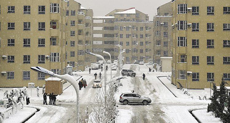 snö i Kabul
