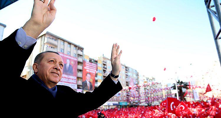 Turkiets ledare Recep Tayyip Erdogan