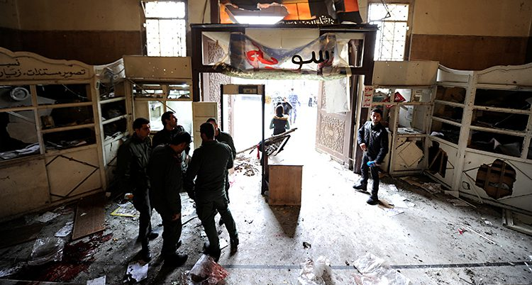 bomb i Damaskus