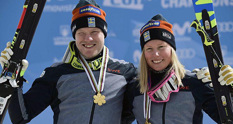 Victor Öhling Norberg och Sandra Näslund