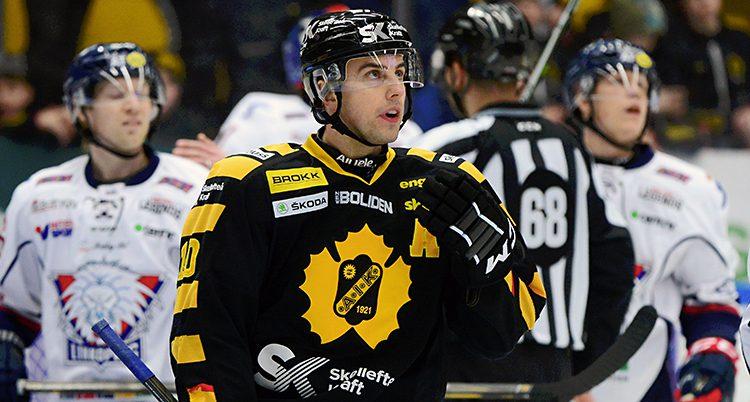 Hockeyspelaren Joakim Lindström.
