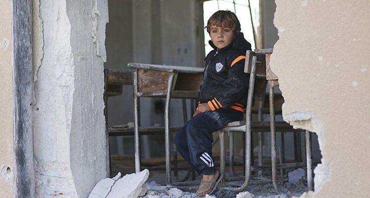 En pojke i Syrien