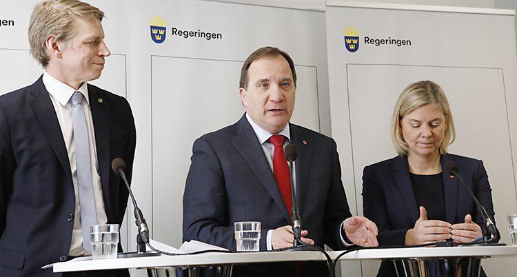 Ministrarna Per Bolund, Stefan Löfven och Magdalena Andersson berättar om det nya förslaget.