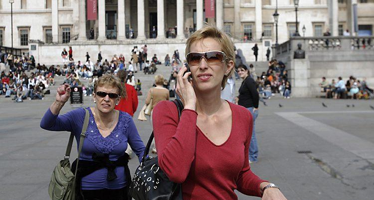 En turist ringer