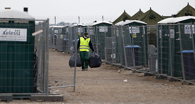 Ett läger för flyktingar