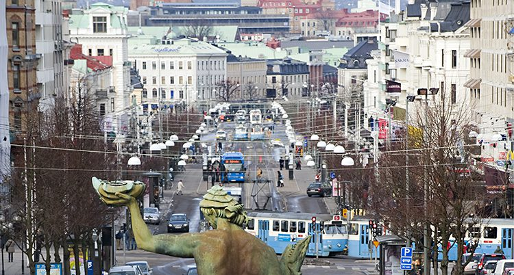 Götaplatsen i Göteborg.