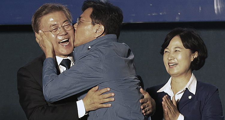 Sydkoreas nya ledare Moon Jae-in