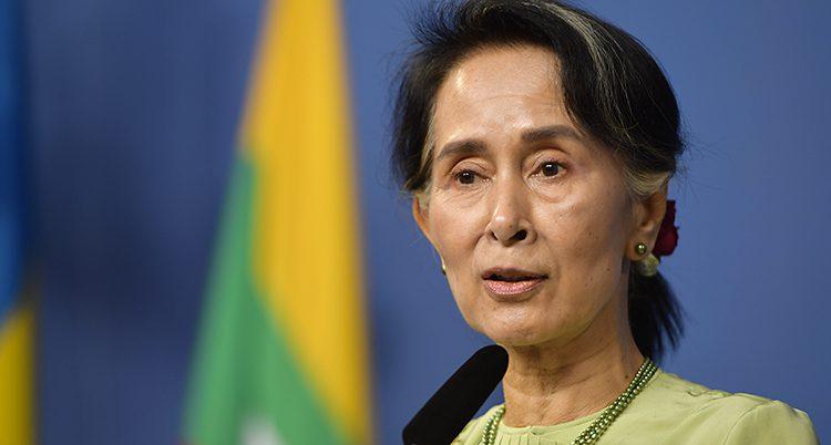Burmas ledare Aung San Suu Kyl