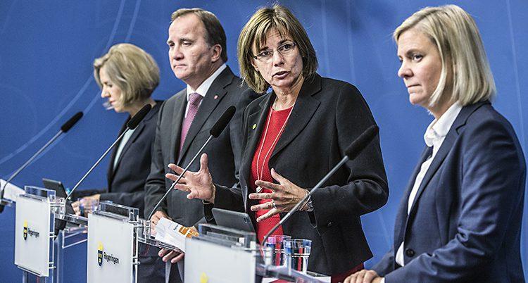 Några av regeringens ministrar