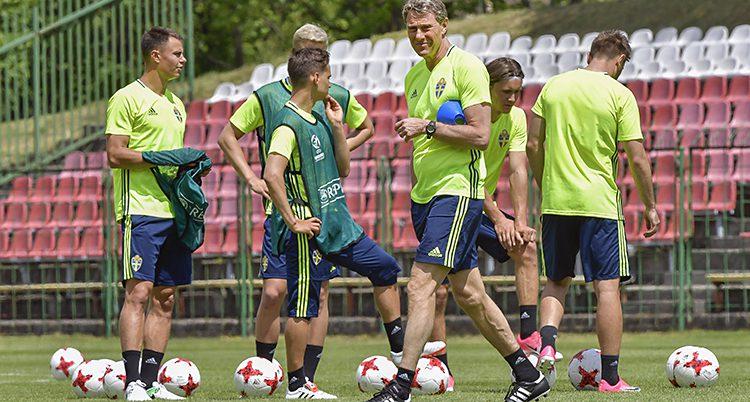 Det svenska laget tränar inför EM