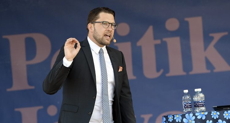Sverigedmokraternas ledare Jimmie Åkesson