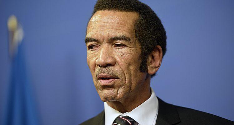 Botswanas president Ian Khama