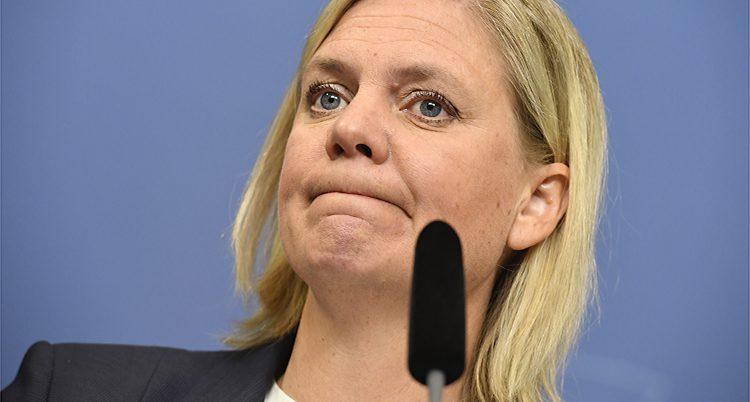 Regeringens finansminster Magdalena Andersson