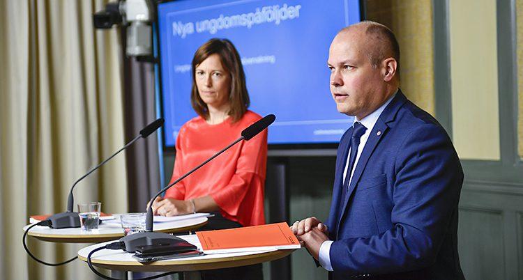 Regeringens justitieminister Morgan Johansson